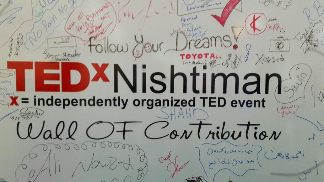 TEDxNishtiman Wall of contribution